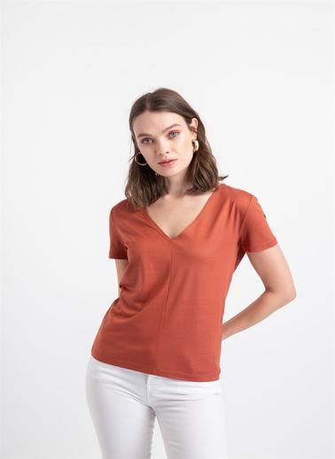 Rue V Yaka Basic T-Shirt Taba